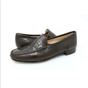 Bostonian Loafer Dress Shoes Brown Moc Toe Leather